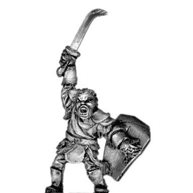 Man-Orc light infantry chieftain