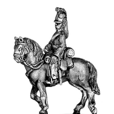 Heavy Dragoon Officer, in helmet