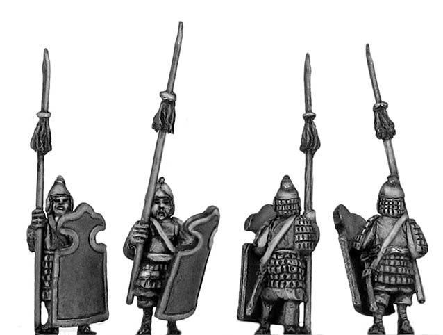 Nan Chao heavy infantry with shield and spear