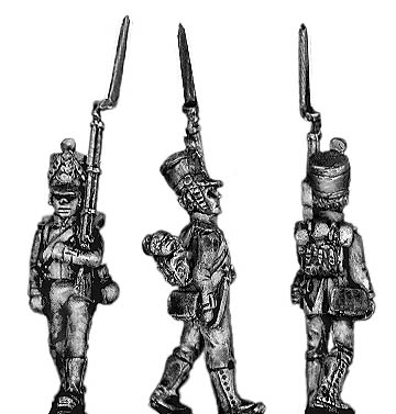 Fusilier, marching, in knee gaiters