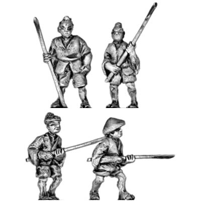 Peasants with pole arms