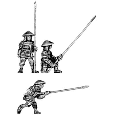 Late or Renaissance Ashigaru with 12 foot yari