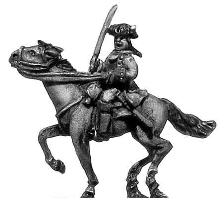 Mounted officer in cuirasse