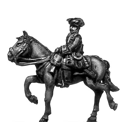 Chevau leger officer in tricorn