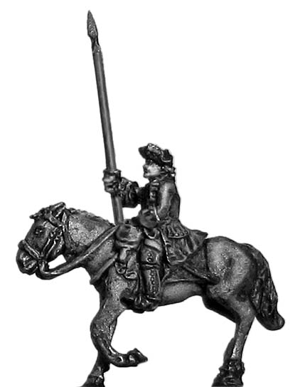 Dragoon standard bearer in tricorn