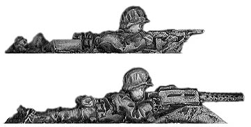 US Marine Browning LMG team