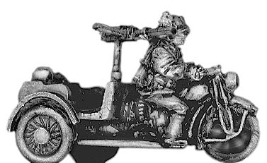 Bersaglieri on tricycle with LMG