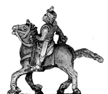 Mounted chieftain or officer