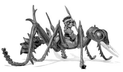 Giant Ant, with Pygmy jockey