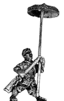 African parasol bearer (holding spare arquebus)