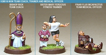 Gridiron Nun Coach, Trainer And Medical Officer